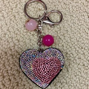 Accessories - Stunning Bling Heart Keychain